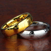 100% Tungsten ring 316l Stainless Steel Ring for men (Lord of the Rings Style) Black, Gold or Silver