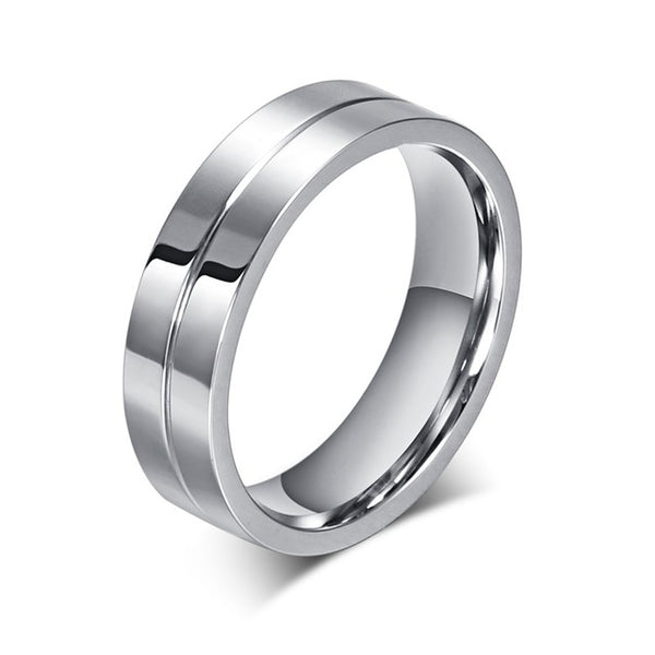 Vnox CZ Wedding Band Engagement Rings for Couples 316l Stainless Steel High Quality Lovers Jewelry Anniversary Gift