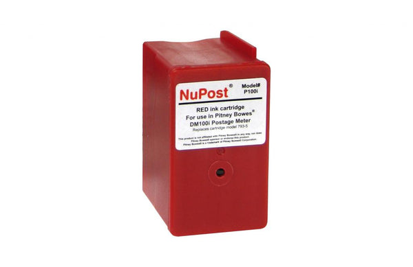Postage Meter Red Ink Cartridge for Pitney Bowes 793-5
