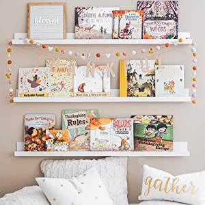 floating shelves white for wall book bathroom bedroom  nursery hanging kids ledge mini corner ikea