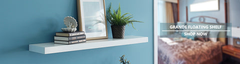 12 inch deep floating wall shelves