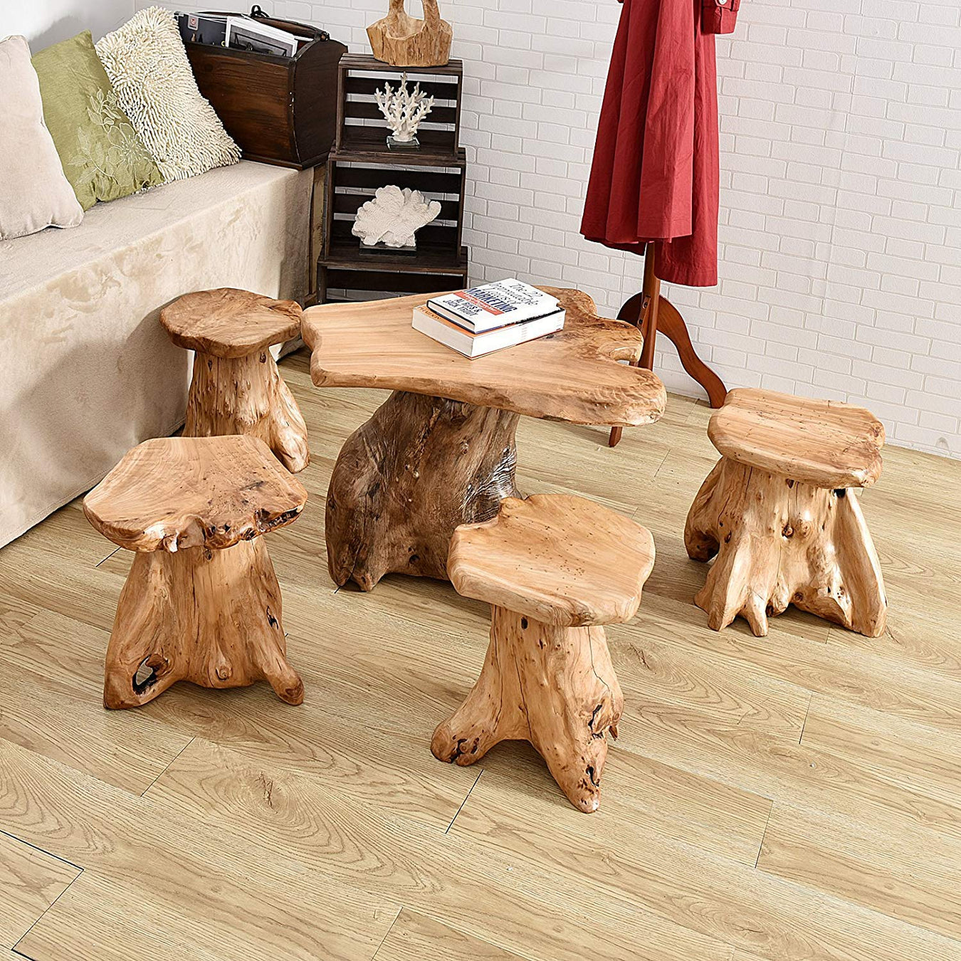 Tree stump side table| Wellandstore