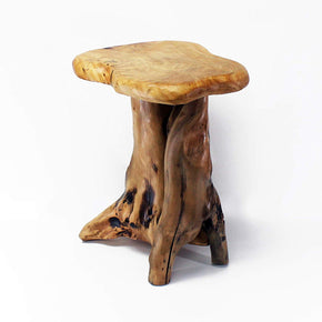 Wood stump side table by wellandstore