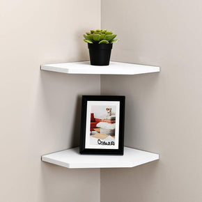 12 Inch Floating Corner Shelves Set of 2