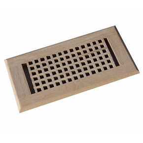 Red Oak Egg Crate Flush Mount Floor Register Unfinished, Welland Industries LLC