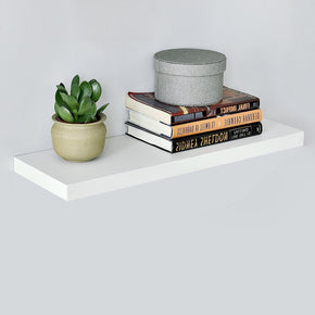 8 inch deep white floating shelf