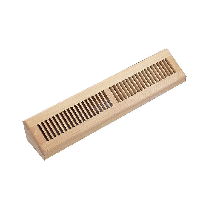 Hickory Hardwood Vent Baseboard Diffuser Wall Register Unfinished