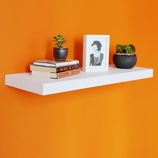 "12"" Depth Grande Floating Wall Shelf, 36""L x 12""D x 2""T, Deeper Than Others"