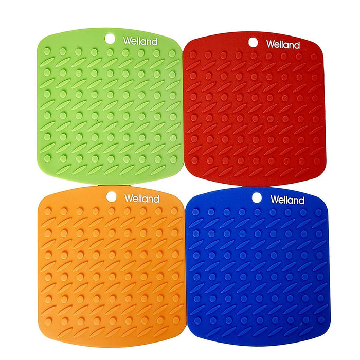 Silicone Pot Holders set, foldable kitchen mats WELLAND
