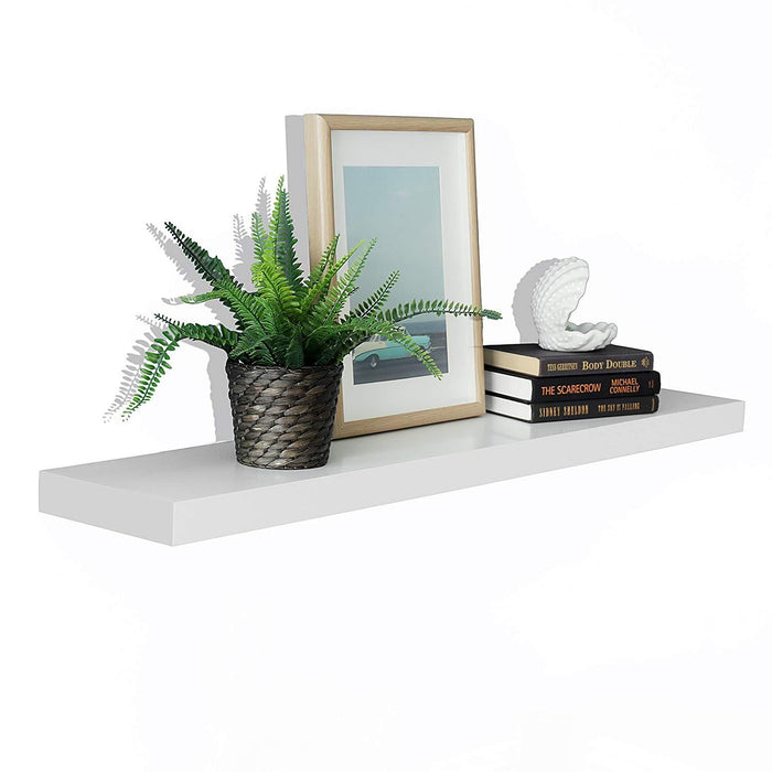 New Chicago Floating Shelves, 48-inch, White