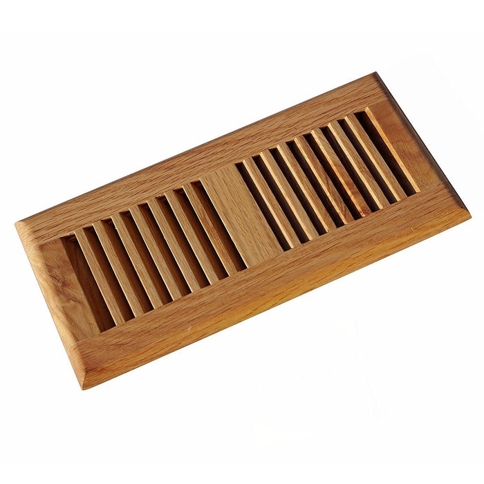 Red Oak Wood Vent Floor Register Self Rimming Clear Finished, Welland industries llc