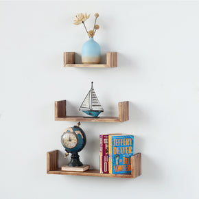 Floating Shelf Set, Wall Shelves for Bathroom, Living Room, Bedroom