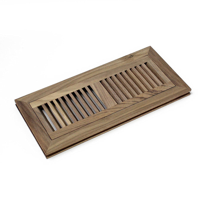 American Walnut Flush Mount Floor Register, Welland industries llc