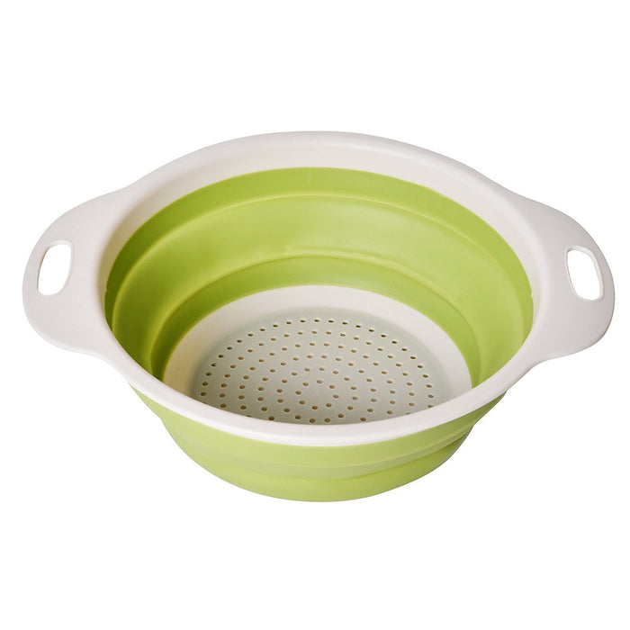 Collapsible Kitchen Colander / Strainer & Bambooo Cutting Board
