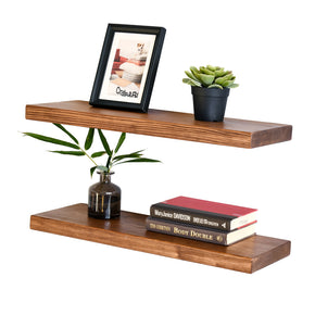 Allen 8 Inch Deep Reclaimed Wood Floating Wall Shelves