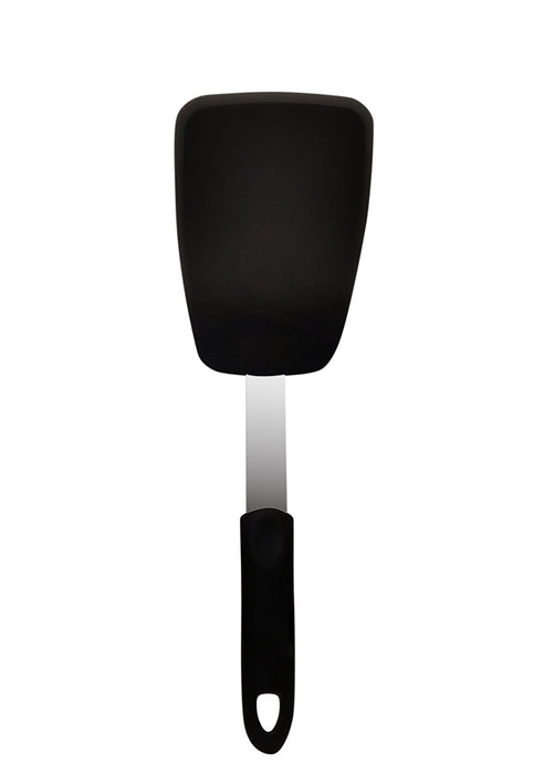 Silicone & Stainless Steel Flexible Spatula Turner 600°F Heat-Resistant, Large