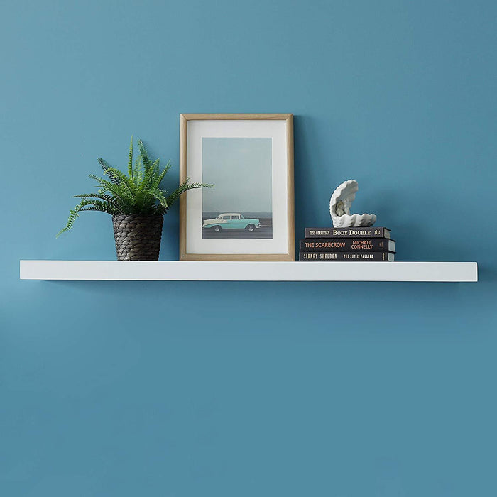 New Chicago Floating Wall Shelf 48 Inch White By Welland Welland