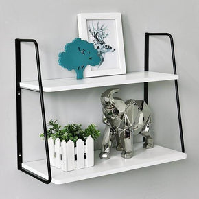 2 tiered ladder wall shelf