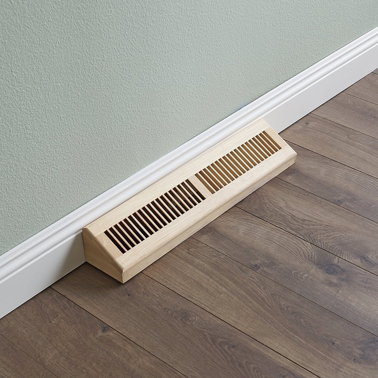 Picture of: Baseboard Diffuser Wall Register Unfinished Baseboard Diffuser Vent Hickory Wellandstore