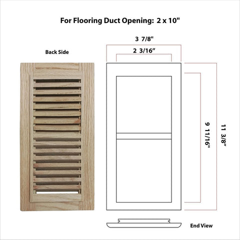How to measure Self rimming vents