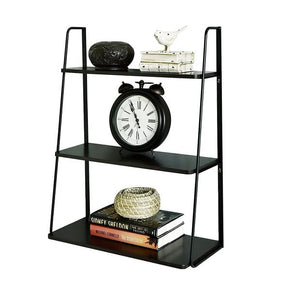3 tier display wall shelf black