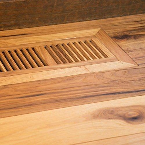 Tiger Wood Hardwood Vent Floor Register Flush Mount Unfinished