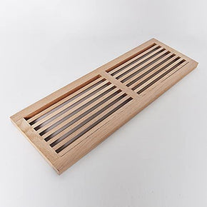 Red Oak Hardwood Register Cold Air Return Wall Vent, Unfinished