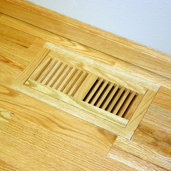 Santos Mahogany Hardwood Vent Floor Register Flush Mount Unfinished