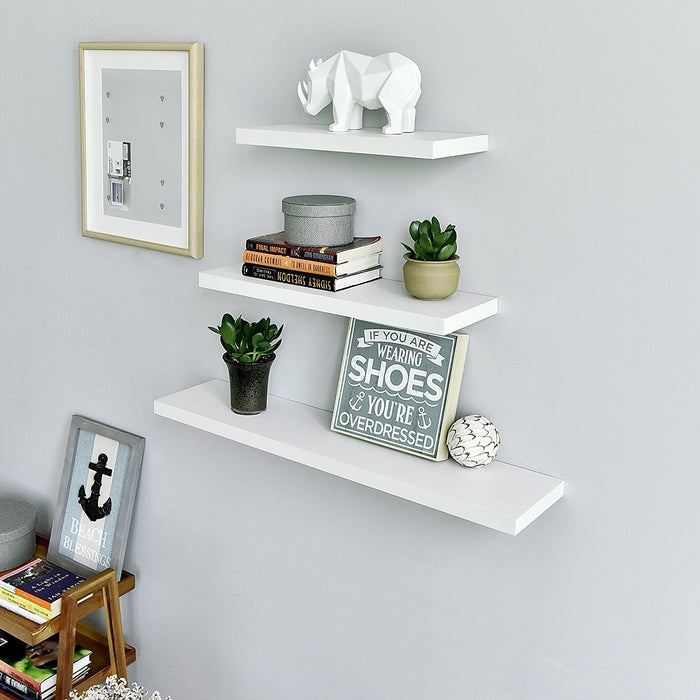 Simons Floating Wall Shelf, 24''L x 8''D x 1.25''T