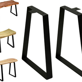 16 '' Tall Trapezoid Metal Table Legs for Furniture, Bench Legs Coffee Table Legs Set of 2, DIY Table Legs