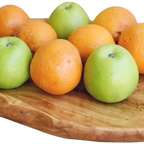 WELLAND Natural Wood Dish Wooden Fruit Salad Serving Tray