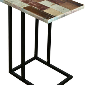 WELLAND Sofa Snack C-Table  Reclaimed Wood TV Tray Side Table