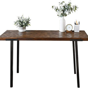 "WELLAND Solid Wood 47"" Console Table,Kitchen Pub Dining Coffee Table High Writing Computer Table,for Narrow Space, Living Room, Dining Room-Sturdy Metal Frame"