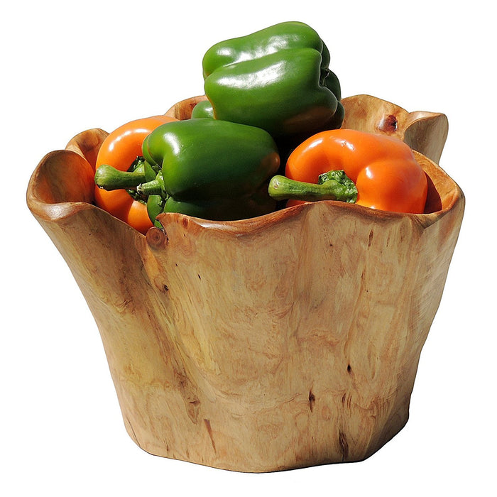 Handmade Storage Natural Root Wood Crafts deep Bowl