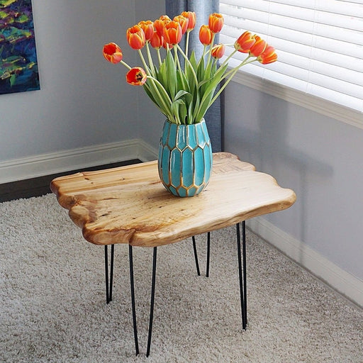 Unique Shape Cedar Live Edge Wood Root Coffee Table - Side End Table