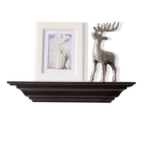 "Corona Crown Molding Floating Wall Shelf, 18""L x 5.25""D x 3.25""T"