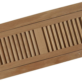 "Welland White Oak 4 X 12 Inch Flush Mount Vents ,2 PCS Set,3/4"" Thickness Wood Floor Register Vents,Unfinished."