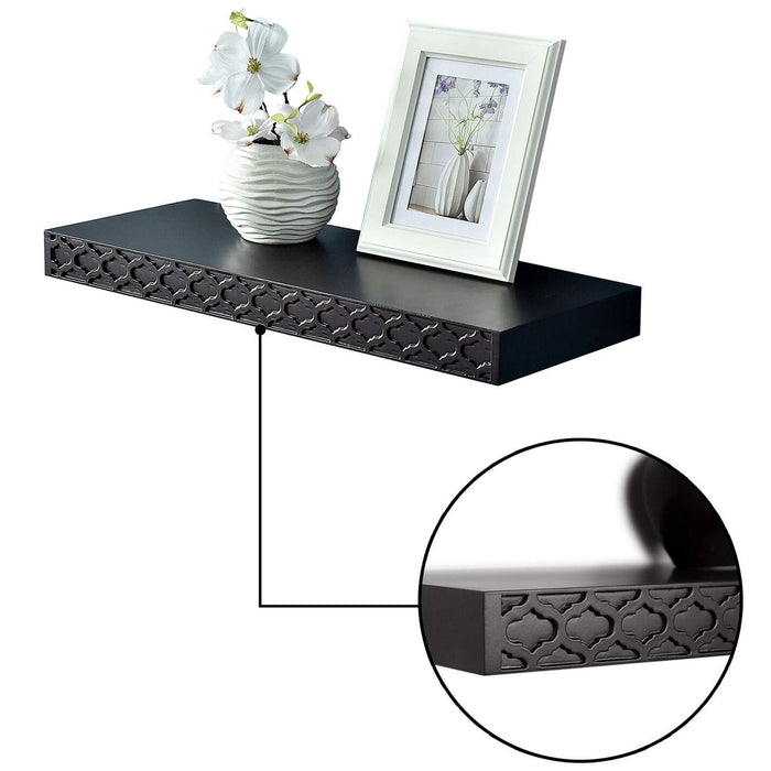 Carving pattern classic floating shelves | WellandStore