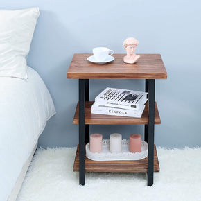 3-Tier Solid Pinewood Side Table for your Living Room and Bed Room