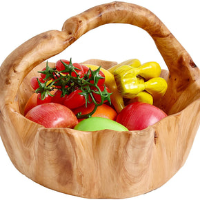 Root Wood Crafts Basket with Handle