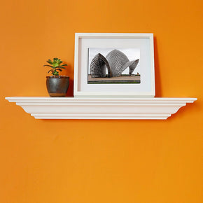 "WELLAND Corona Crown Molding Floating Wall Shelf, 18""L x 5.25""D x 3.25""T"