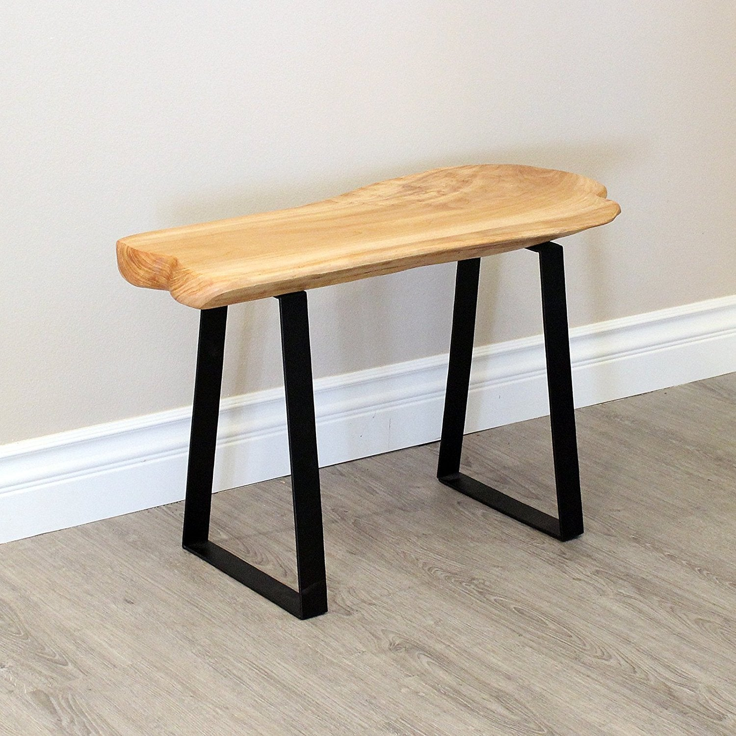 Wondrous Live Edge Cedar Wood Bench With Metal Legs 29 Long Caraccident5 Cool Chair Designs And Ideas Caraccident5Info