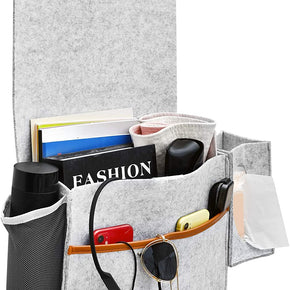 Charleston Bedside Storage Organizer (Gray)