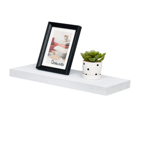Simons Floating Wall Shelf Ledge Shelves, 24''L x 8''D x 1.25''T