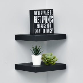 8 Inch Deep Wall Mounted Shelves Set Of Two