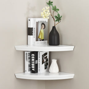 Valencia Corner Wall Shelves for Bedroom Office Home Décor Accents Set of 2