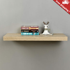 Light Yellow Color Floating Shelf
