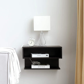 Floating Nightstand Side Table Wall Mounted Shelf with Drawer Storage for Living Room, Bedroom