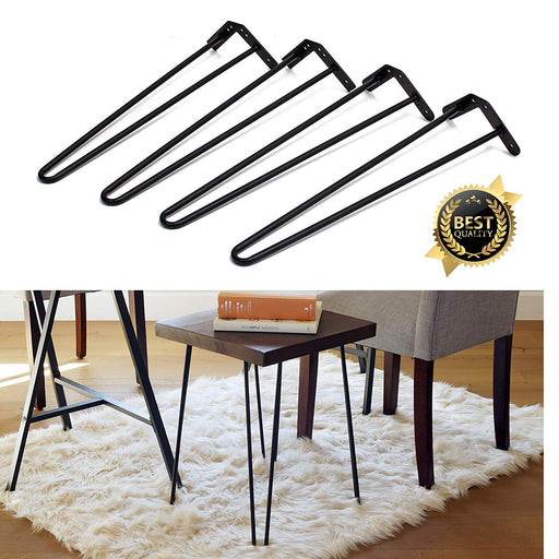 19 inch Heavy Duty Metal Hairpin Legs, Set Of 4