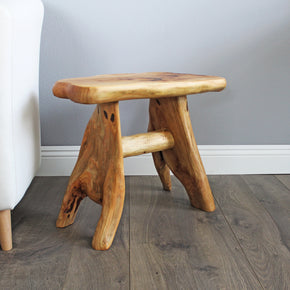 Natural Wood Cedar Stool